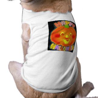Roupa feliz do animal de estimação do Dia das Brux Camisa Sem Mangas Para Cachorro