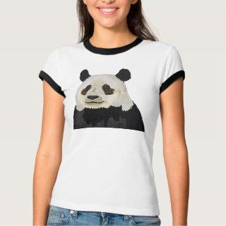 Roupa floral da panda camiseta