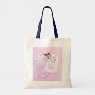 Roupa infantil cor-de-rosa para o chá de fraldas bolsa de lona