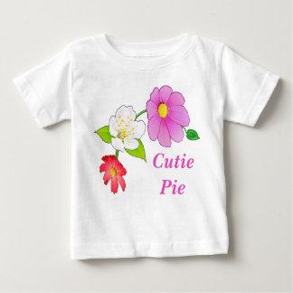 Roupa infantil havaiana floral das camisas da
