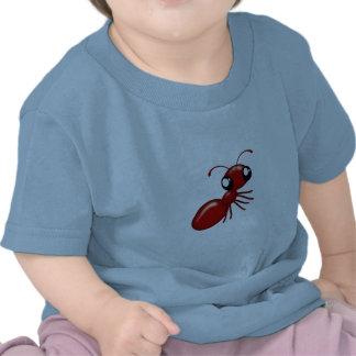 Roupa infantil unisex da formiga vermelha adorável tshirts