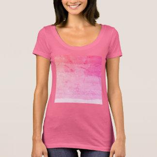 Roupa marmoreado do ombre batik cor-de-rosa bonito camiseta