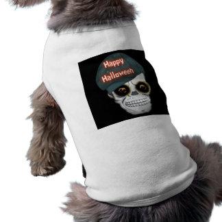 Roupa o Dia das Bruxas feliz principal de esquelet Roupas Para Pets