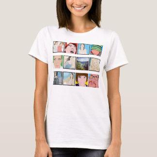 Roupa personalizado foto das senhoras do mosaico camiseta