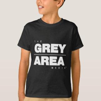 Roupa preto branco da área cinzenta camiseta