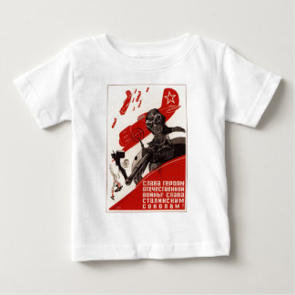 Roupa soviético velho da propaganda do russo camisetas