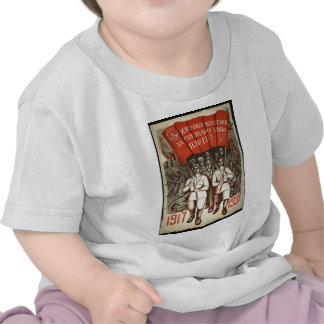 Roupa soviético velho da propaganda do russo t-shirt
