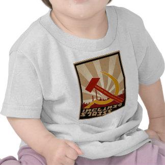 Roupa soviético velho da propaganda do russo t-shirts