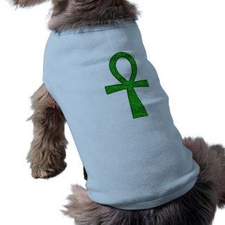 Roupa verde do animal de estimação de Ankh Camisa Sem Mangas Para Cachorro