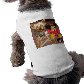 """roupa """"yorkshire terrier """" do animal de estimação camisa sem mangas para cachorro"""