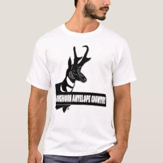 Roupas de grife animais do país do antílope de camiseta