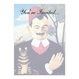 Rousseau - retrato do loti de Pierre Convite 12.7 X 17.78cm
