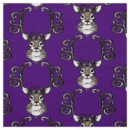 Roxo bonito do tecido da casa de campo dos cervos