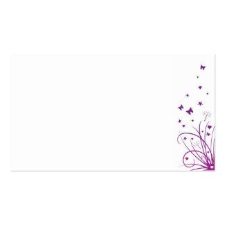 Roxo & branco do cartão de nome do local do cartão de visita