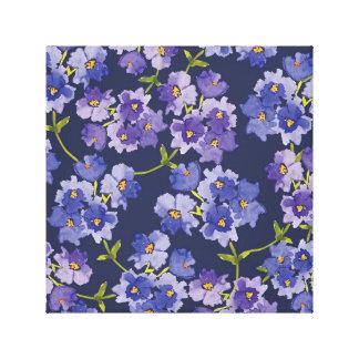 Roxo & canvas florais das flores do Watercolour do