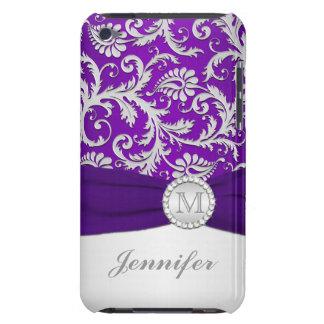 Roxo, capa do ipod touch de prata do damasco