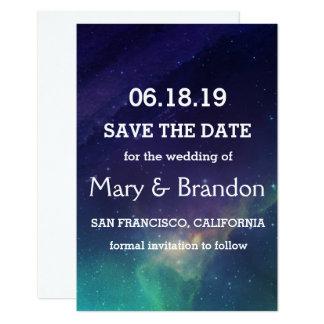 Roxo & casamento da nebulosa do universo da convite 8.89 x 12.7cm
