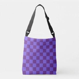 Roxo Checkered Bolsa Ajustável