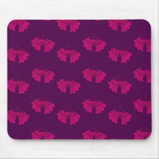 roxo da flor da bolha mouse pad