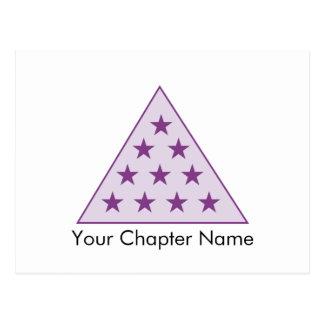Roxo da pirâmide do Pi do Sigma Cartão Postal