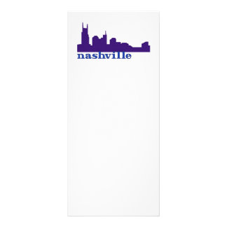 Roxo da skyline de Nashville 10.16 X 22.86cm Panfleto