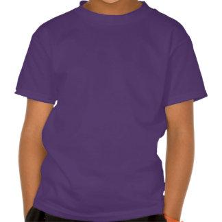 Roxo de esqueleto da camisa do tiranossauro camisetas