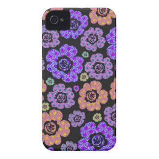 roxo de flower power das flores do japonês do capinha iPhone 4