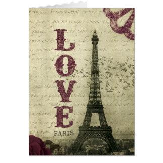 Roxo de Paris | do vintage Cartão Comemorativo