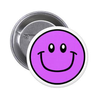 Roxo de sorriso 0003 do botão da cara bóton redondo 5.08cm