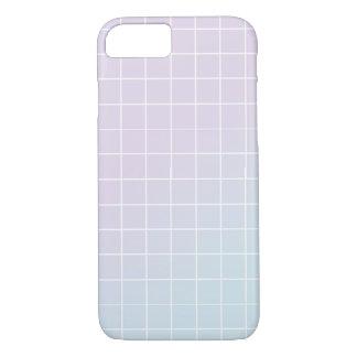 Roxo - design azul da grade do inclinação capa iPhone 7
