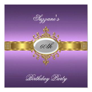Roxo do convite de aniversário do roxo 60th