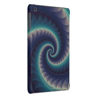Roxo & do iPad espiral do Fractal do Aqua caso Capa Para iPad Mini Retina