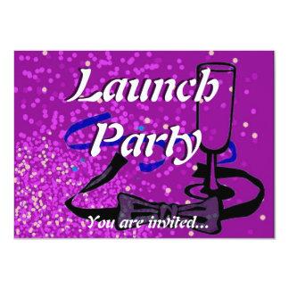 Roxo do partido do lançamento da grande convite personalizados