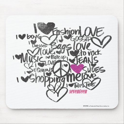 Roxo dos grafites mousepad