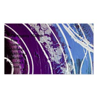 Roxo e arte abstracta pintada azul cartão de visita