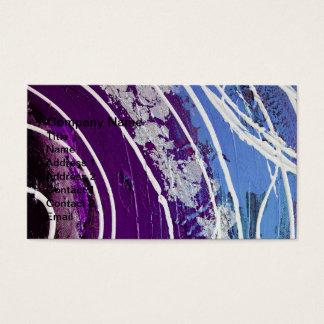 Roxo e arte abstracta pintada azul cartão de visitas