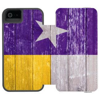 Roxo e madeira velha pintada bandeira de Texas do