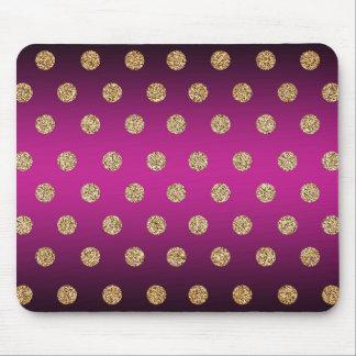 Roxo e ouro mouse pad