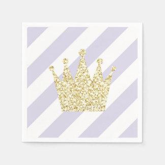 Roxo e princesa Coroa Guardanapo do ouro