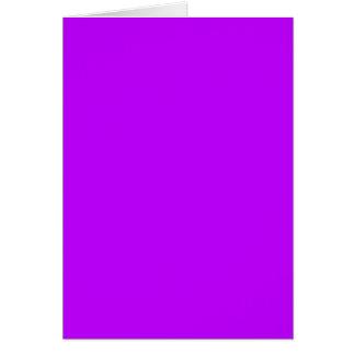 (~ ROXO ELÉTRICO de uma cor de electrificação Cartão Comemorativo