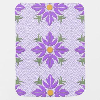 Roxo havaiano da edredão da flor do estilo cobertores para bebe