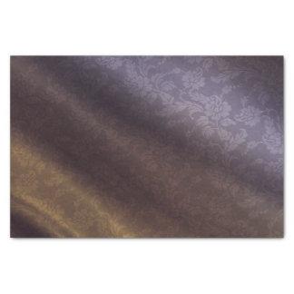 Roxo & lenço de papel 10lb floral do ouro