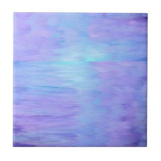 Roxo macio e turquesa da aguarela azulejo quadrado pequeno