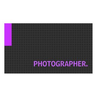 Roxo múltiplo da finalidade do fotógrafo modelos cartoes de visitas