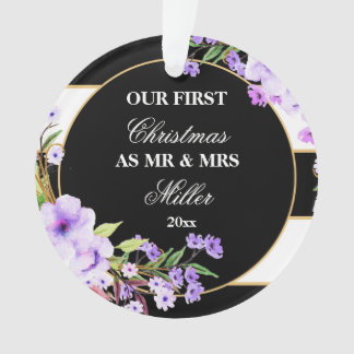 Roxo preto Wedding dos primeiros enfeites de natal