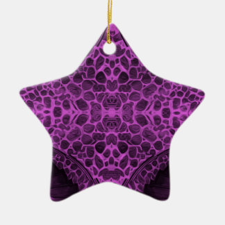 Roxo psicadélico ornamento de cerâmica