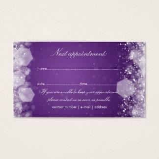 Roxo Sparkling da noite do cartão da nomeação