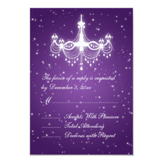 Roxo Sparkling Wedding elegante do candelabro de Convites