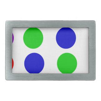 Roxo vermelho do verde azul do design do círculo