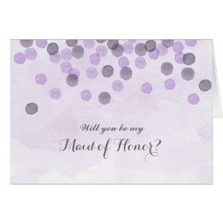Roxo você será meu cartão da madrinha de casamento